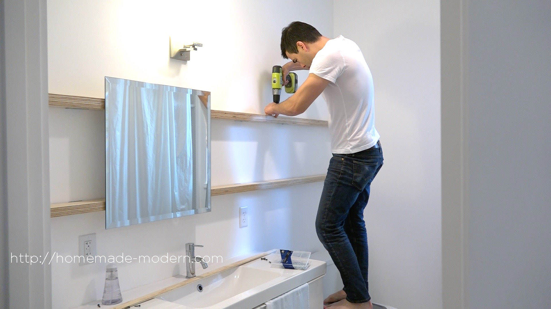 Bathroom Mirror Diy homemade modern ep94 diy sliding bathroom mirror