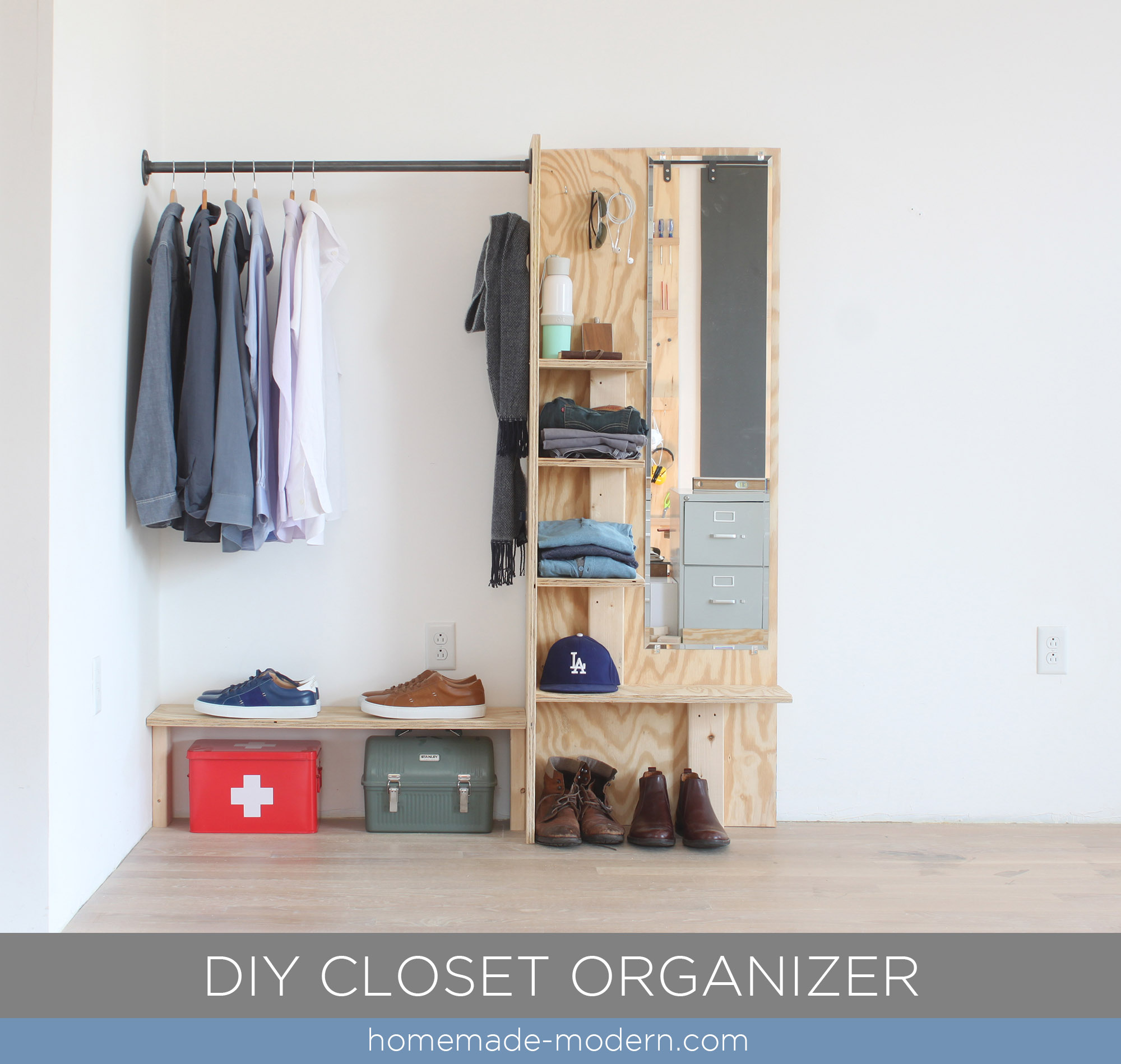 This DIY Closet Organizer Is Made From Materials Available At Home Depot.  Full Instructions Can