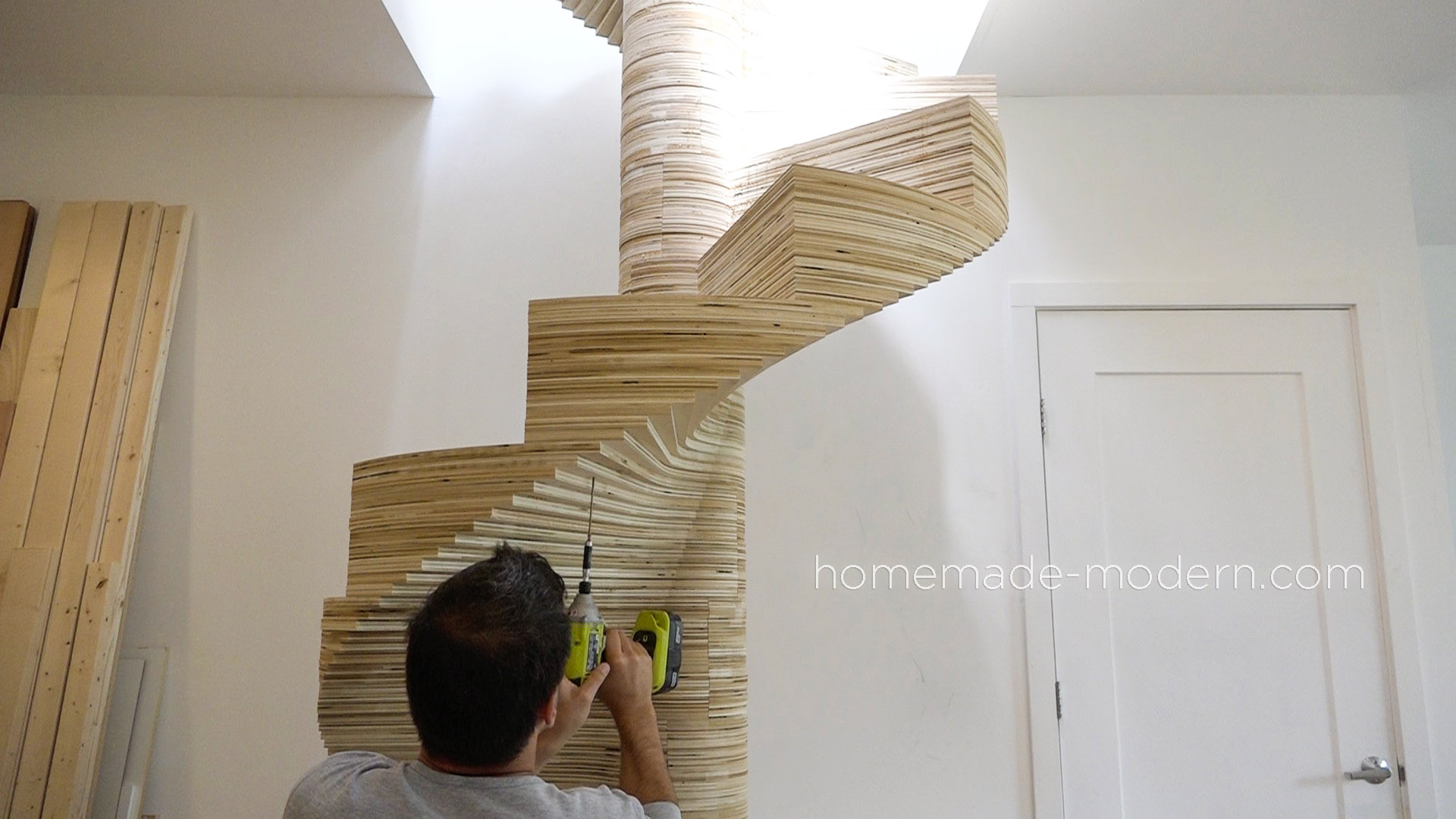 This CNCed Spiral Staircase Was Made Using The X Carve By Inventables.com  And