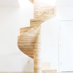 Homemade modern ep36 ironbound bookcase for Build your own spiral staircase