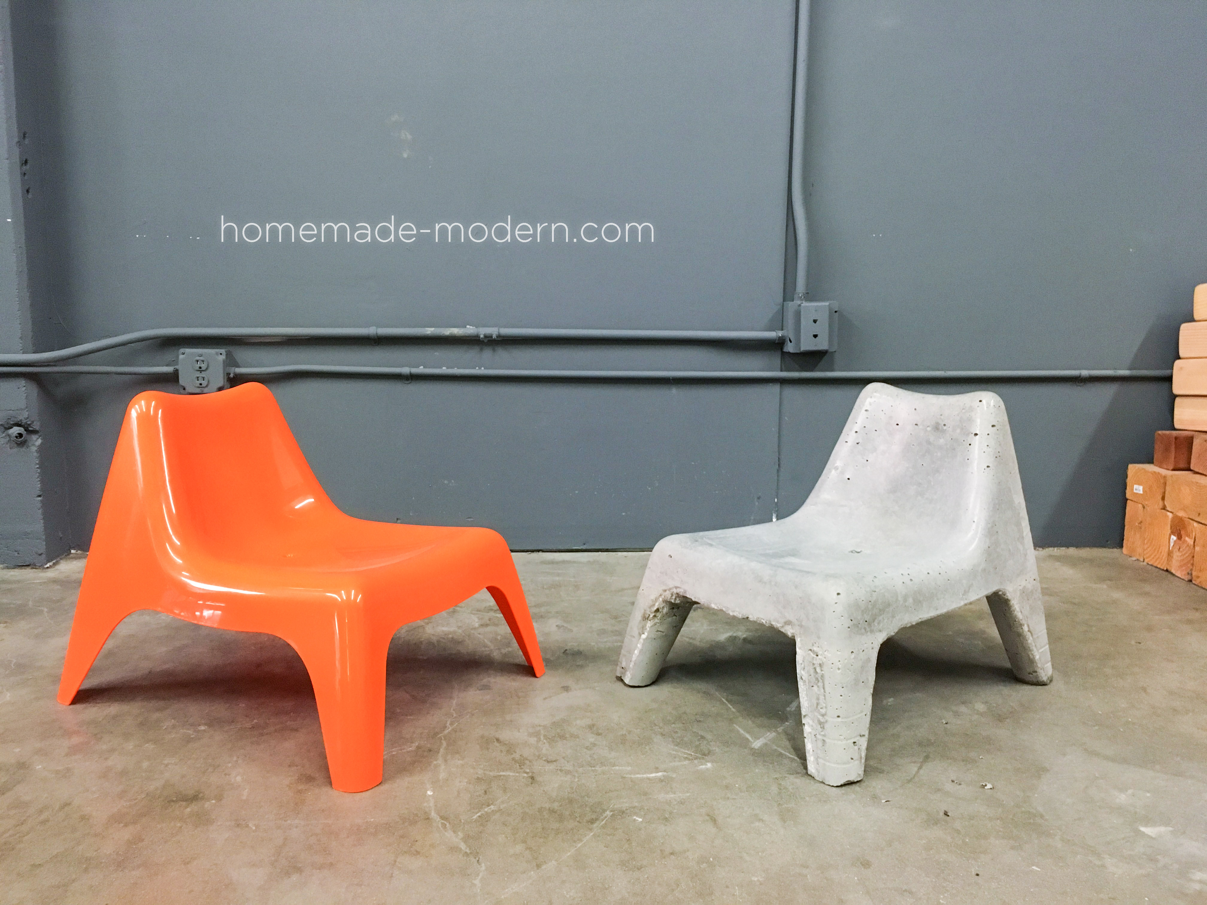 Homemade modern ep100 diy concrete chair What are chairs made of