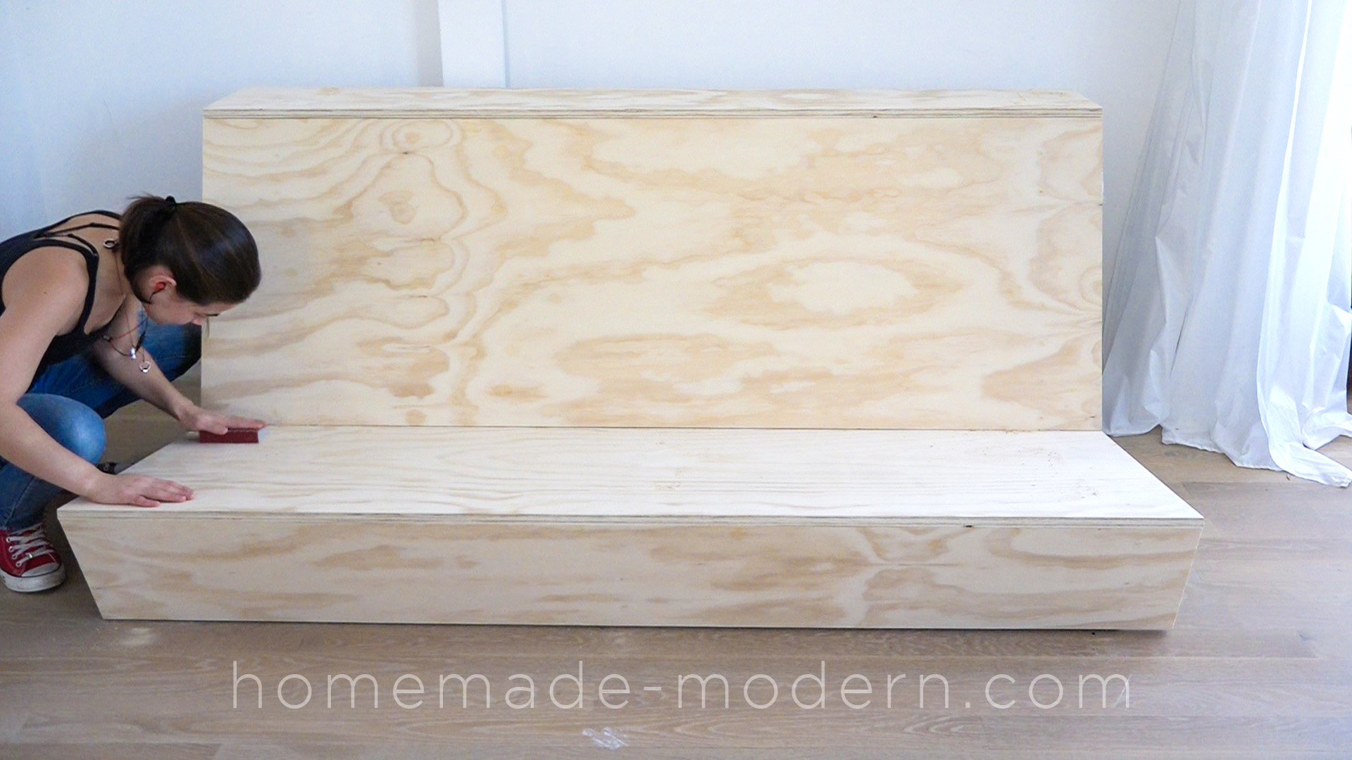 This DIY Zig Zag Sofa was designed specifically for lofts and has a built in. HomeMade Modern EP108 Zig Zag Sofa