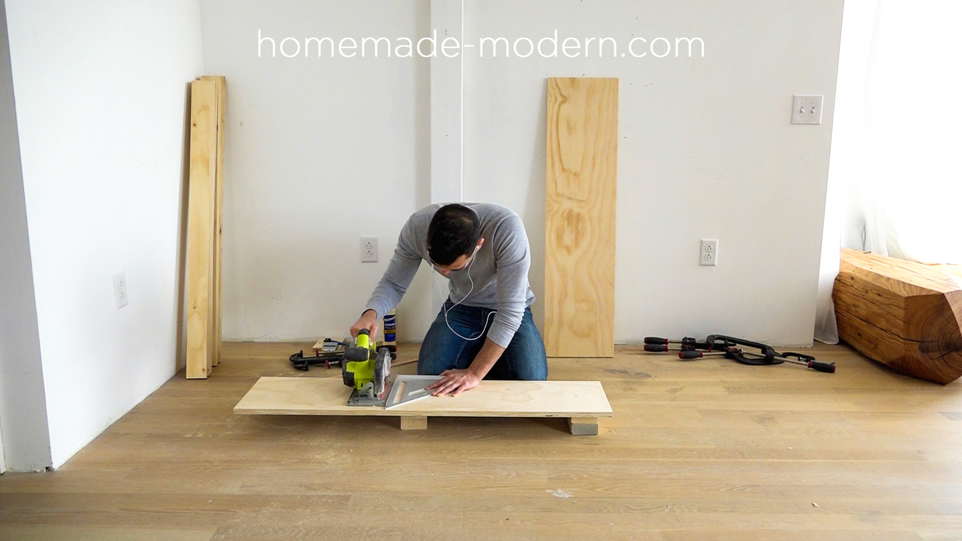This DIY modern plywood sofa is made out of 2 1 2  sheets HomeMade Modern. HomeMade Modern EP111 Plywood Table