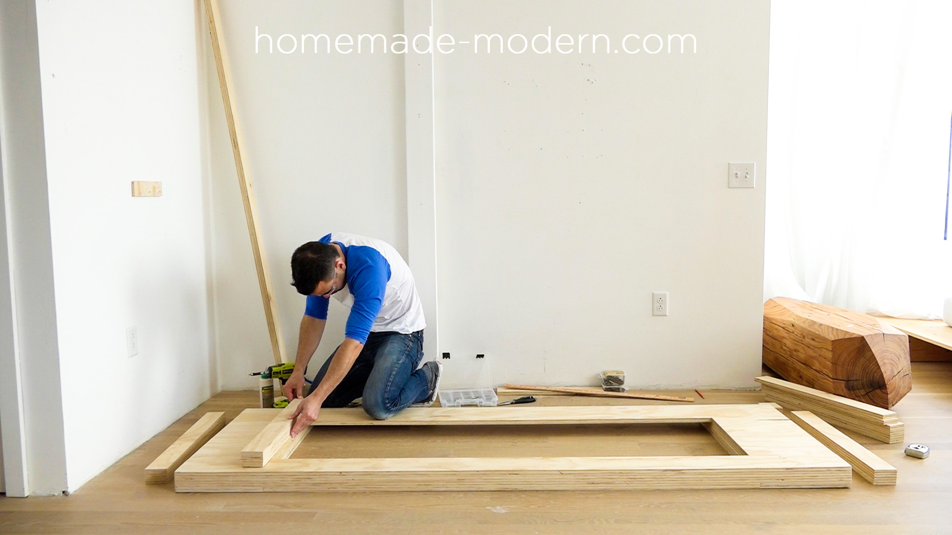 This DIY modern plywood sofa is made out of 2 1 2  sheets. HomeMade Modern EP111 Plywood Table