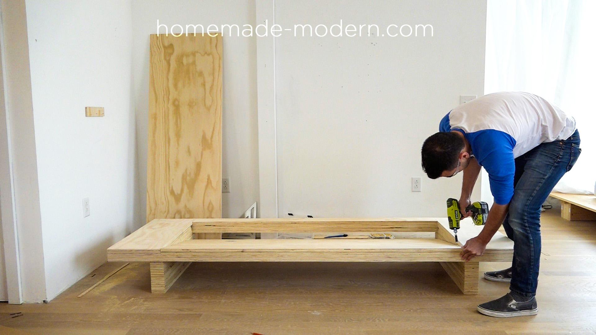 Homemade modern ep111 plywood table for Diy plywood dresser