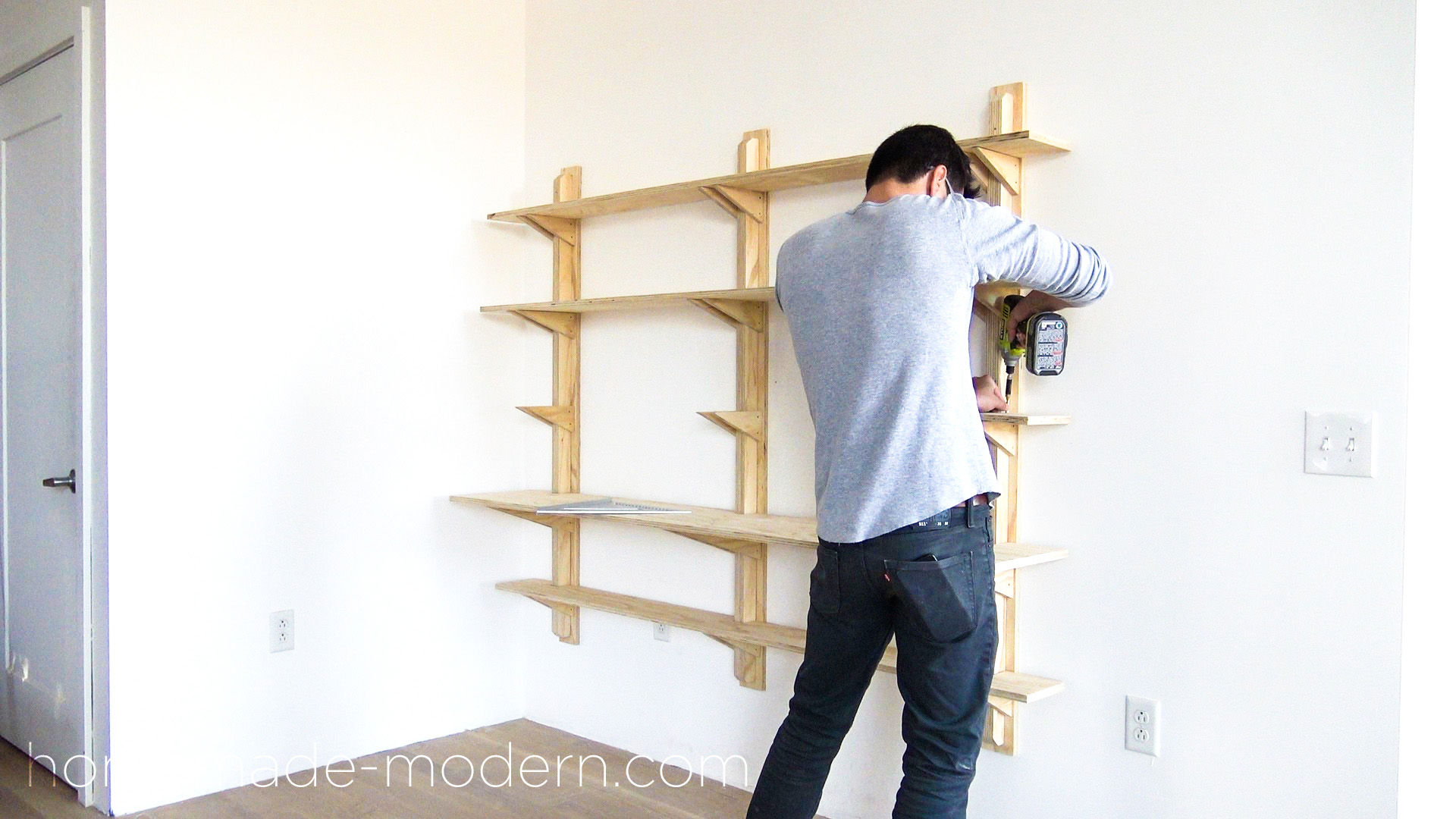 diy office shelves. This DIY Plywood Home Office Is Made Out Of ¾\u201d From Depot And Diy Shelves