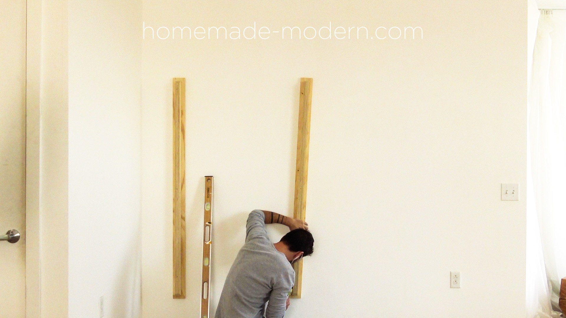 "This DIY plywood home office is made out of ¾"" plywood from Home depot and was designed and built by Ben Uyeda. For more information go to HomeMade-Modern.com"