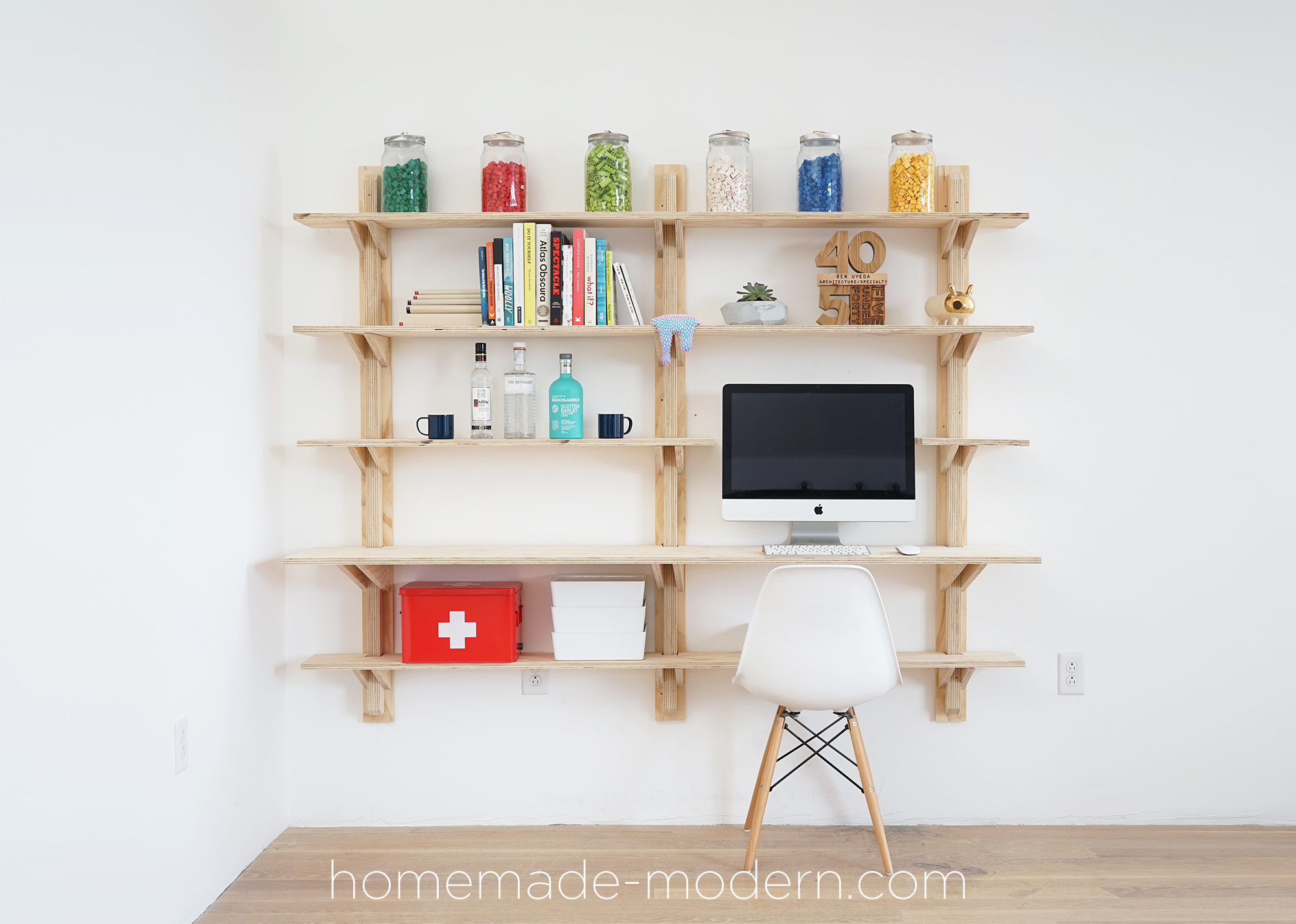 Homemade Modern Ep118 Diy Plywood Shelves With Smart Home Tech