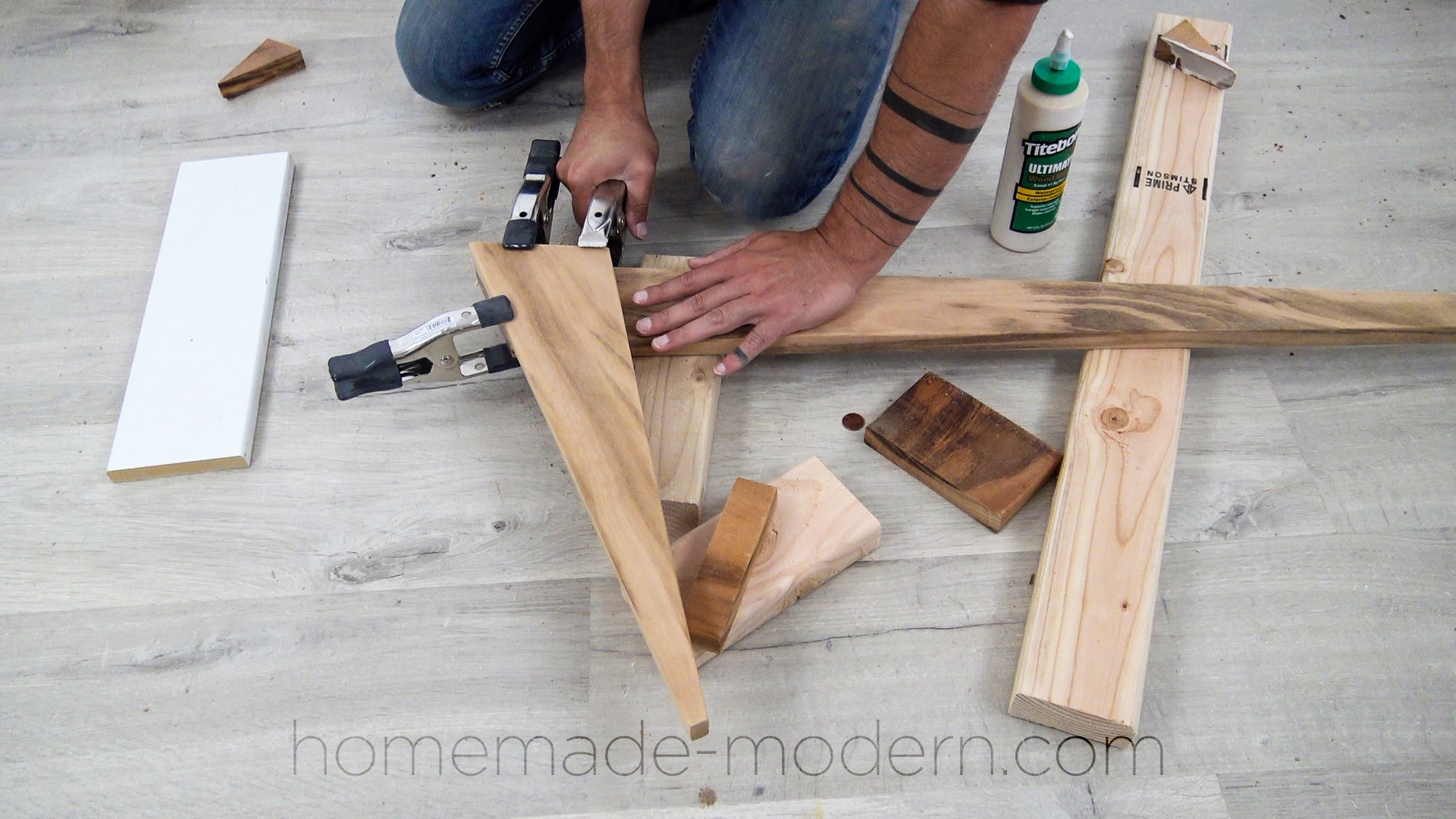 This DIY outdoor tigerwood dining table can be made using just three power tools. For more information go to HomeMade-Modern.com