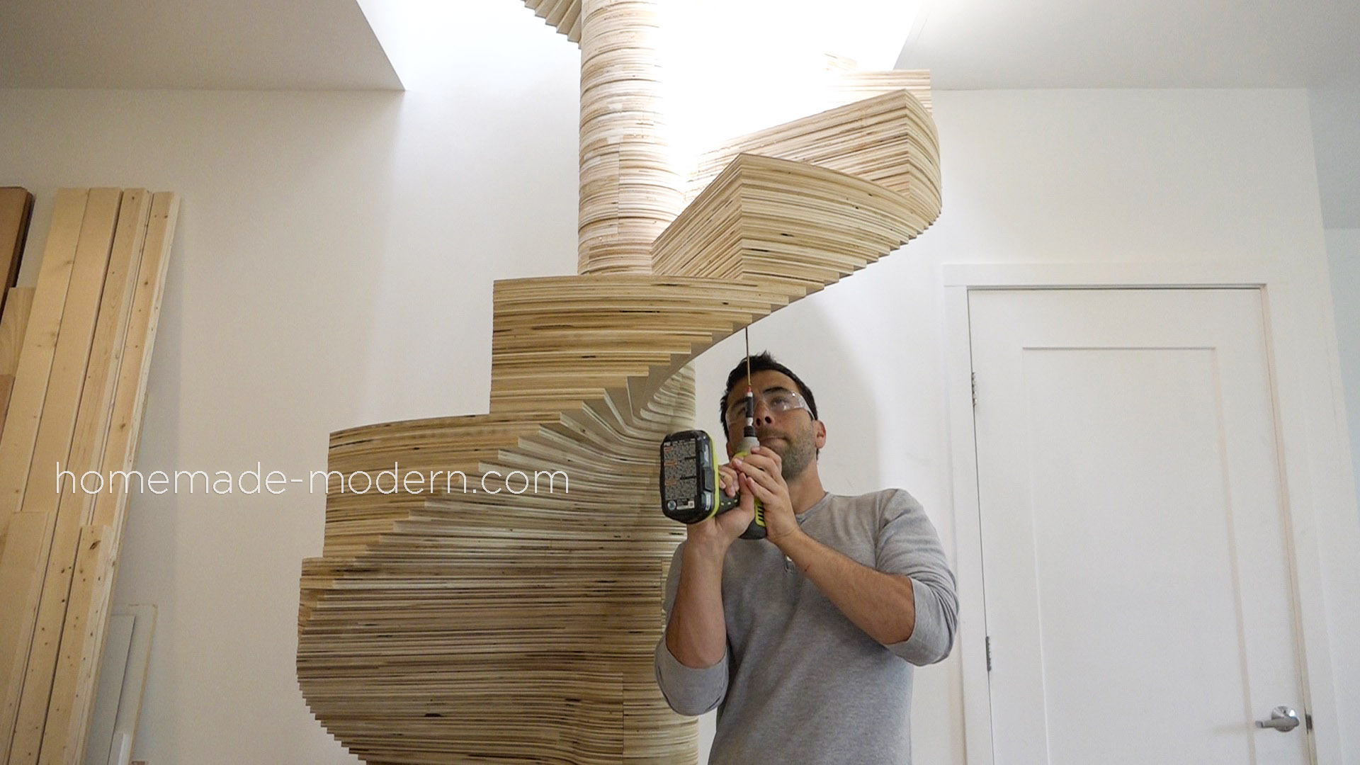 This Cnced Spiral Staircase Was Made Using The X Carve By Inventables And
