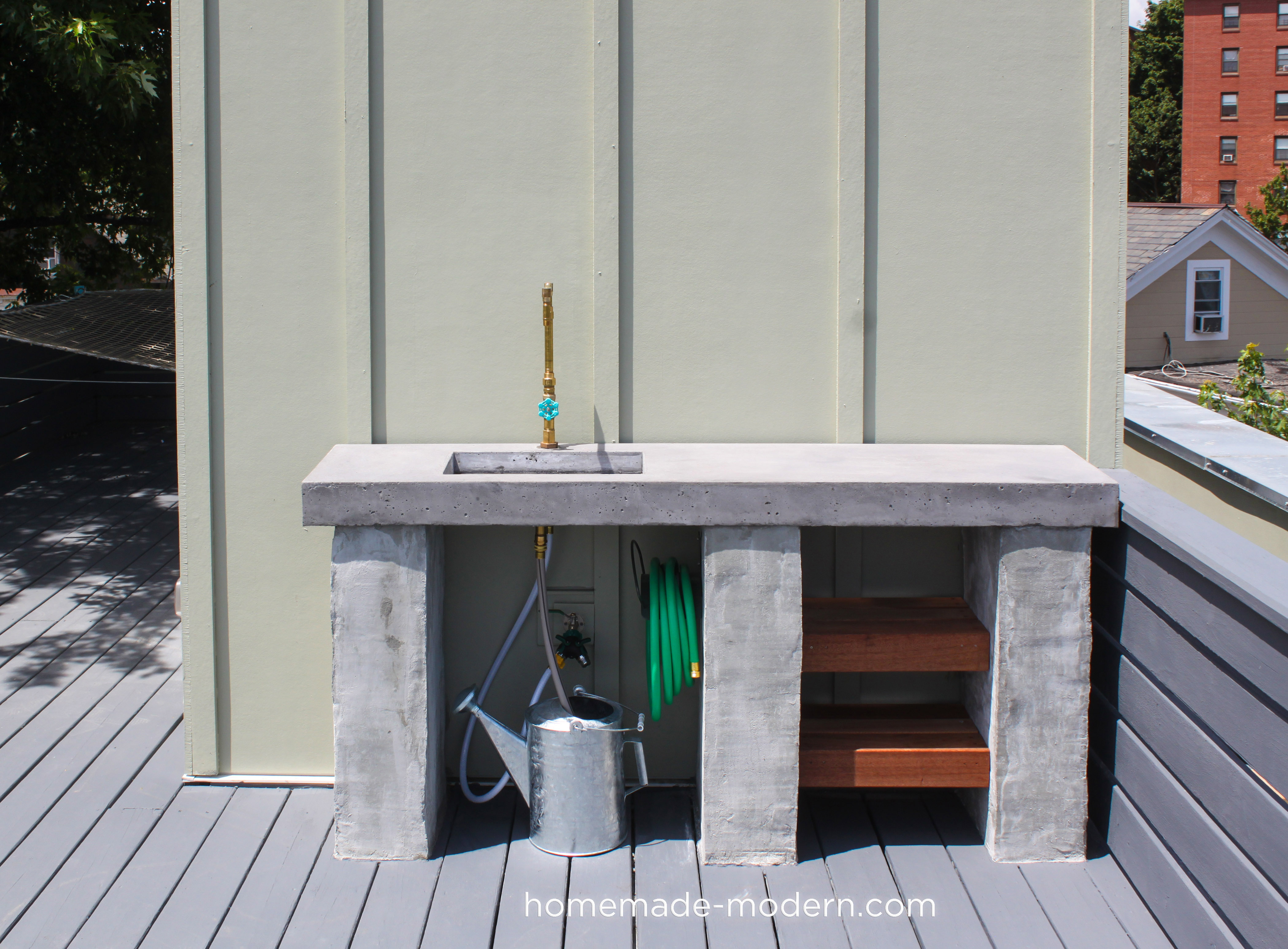 HomeMade Modern EP96 DIY Outdoor Kitchen with Concrete ... on Patio Kitchen Diy id=68086