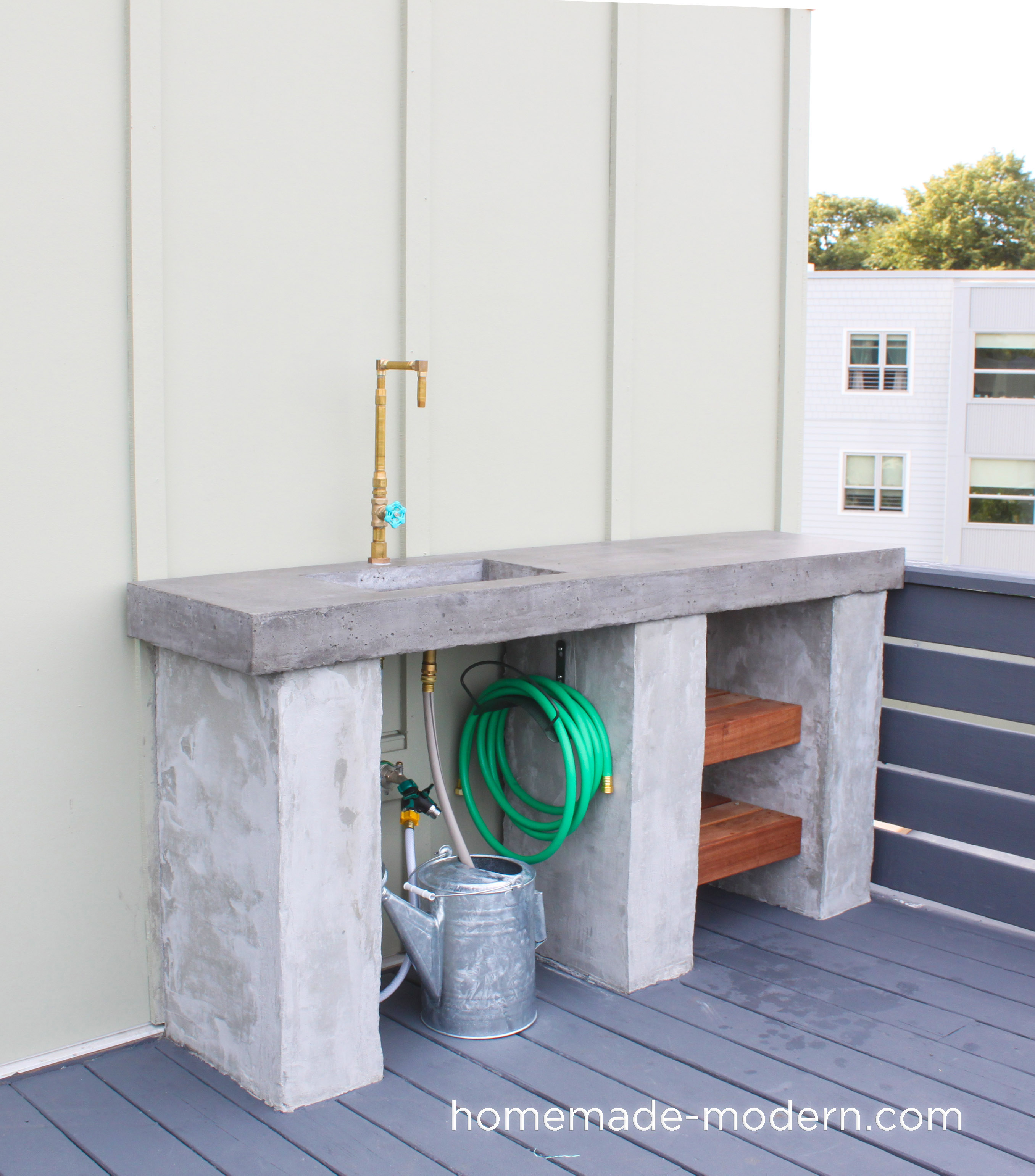 HomeMade Modern EP96 DIY Outdoor Kitchen with Concrete ... on Patio Kitchen Diy id=31054