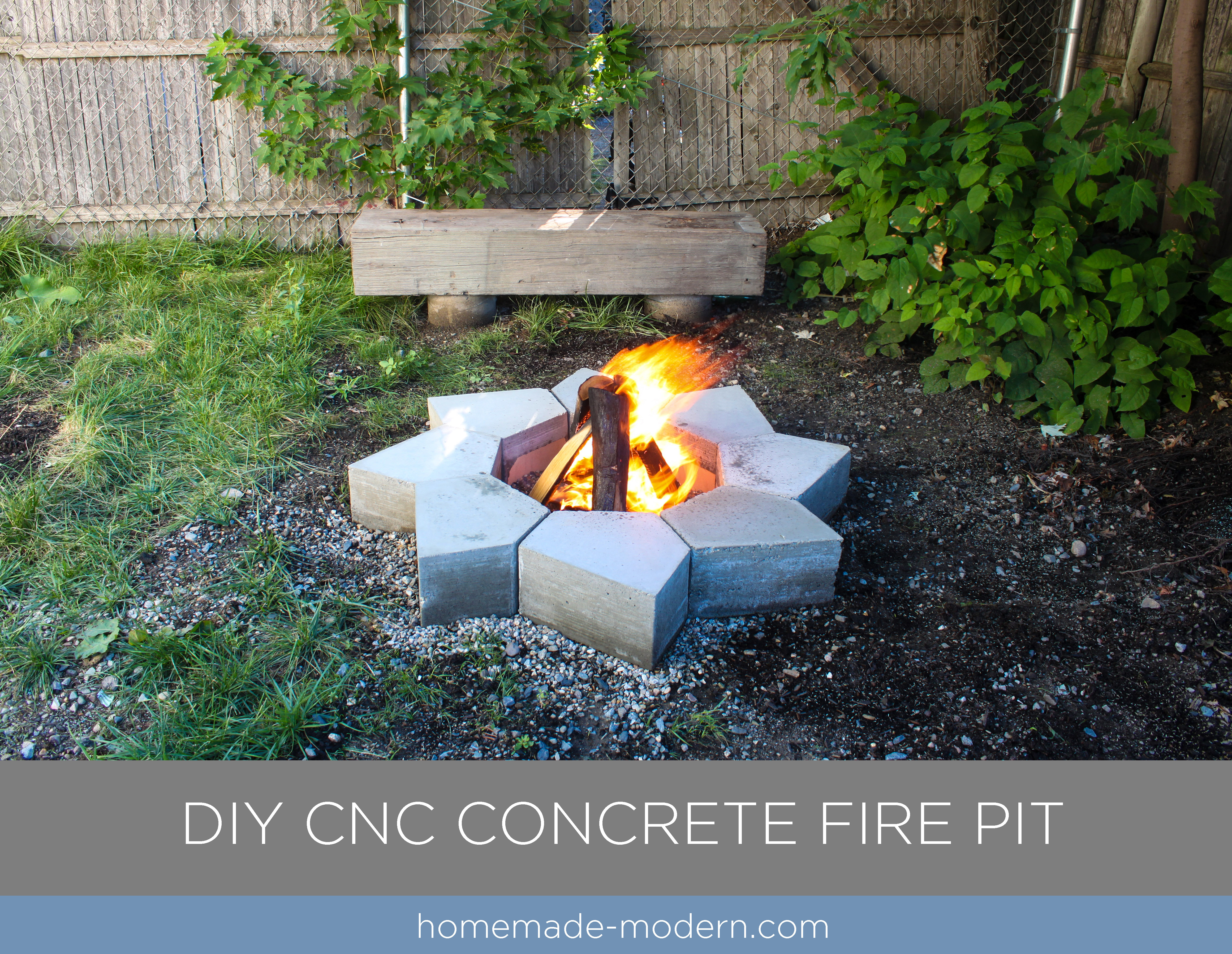This Modular Modern Concrete Fire Pit Was Made From Quikrete 5000 And Cost Less Than 120
