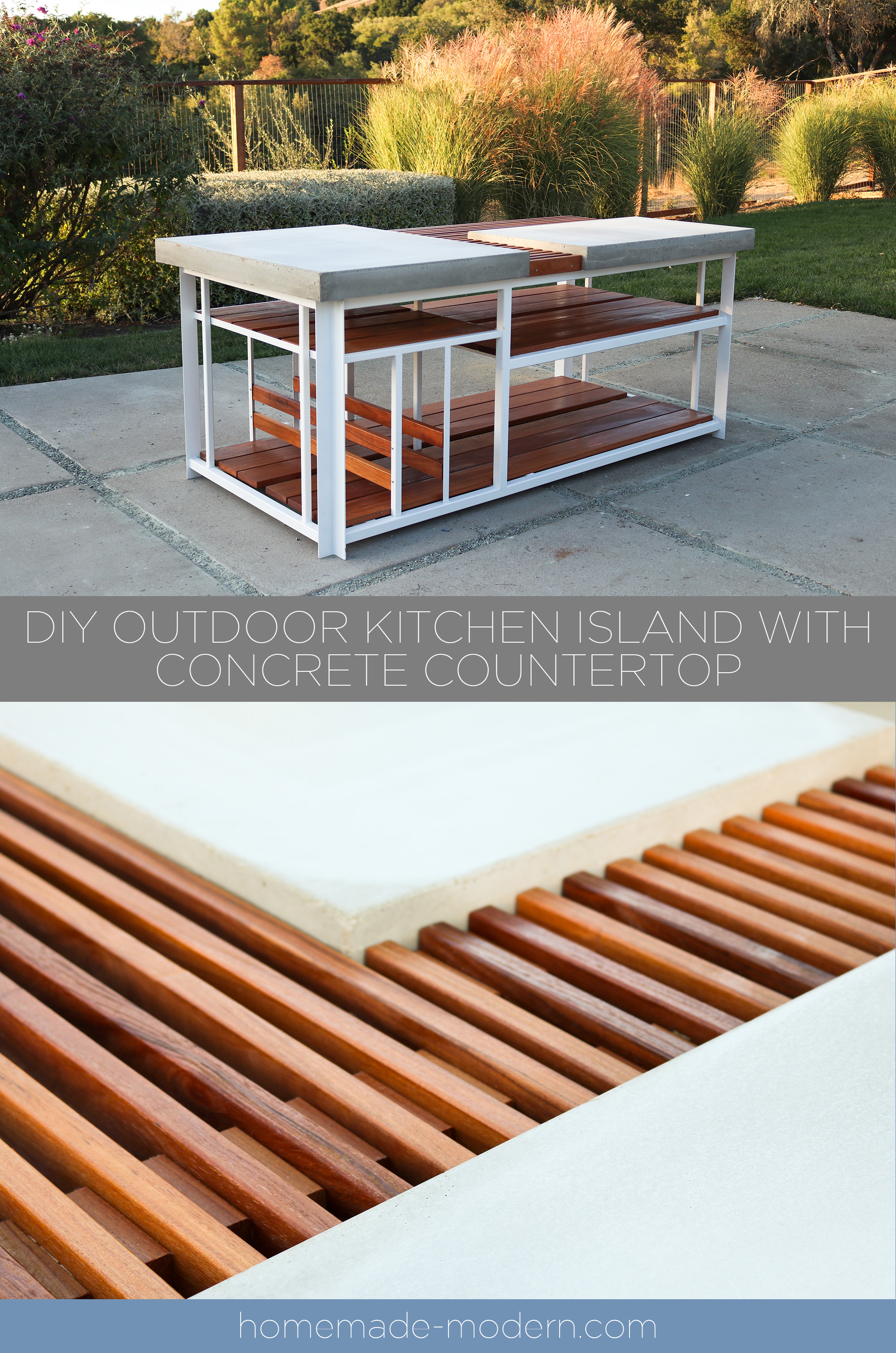 Homemade Modern Ep142 Diy Outdoor Kitchen Island With Diy Concrete Countertops